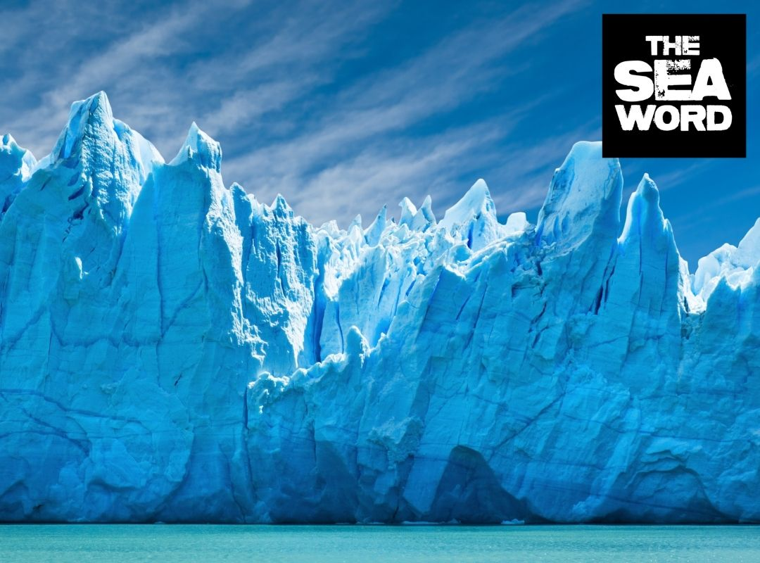 Arctic ice meeting the ocean